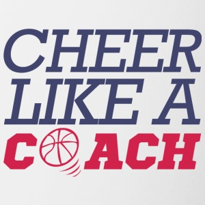 Coach / Trainer: Cheer Like A Coach - Contrasting Mug
