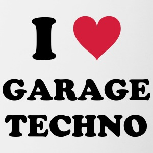I Love Techno GARAGE - Kubek dwukolorowy