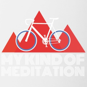 Mountain Bike Meditation - Contrasting Mug