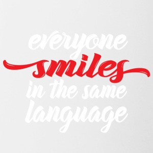Everyone smiles - Contrasting Mug