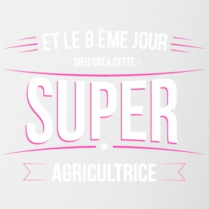 Agricultrice dieu crea cette Agricultrice - Tasse bicolore