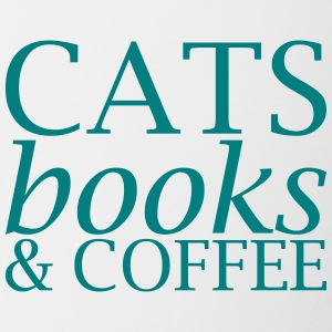 Cats Books and Coffee - Contrasting Mug