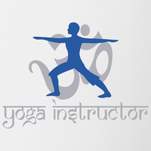 Instructeur van de yoga - Mok tweekleurig