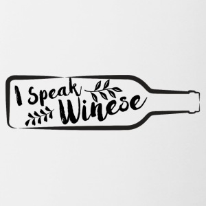 For wine lovers: I speak Winese - Contrasting Mug