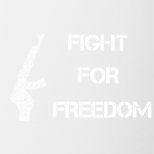Fight for Freedom -WHITE - Contrasting Mug