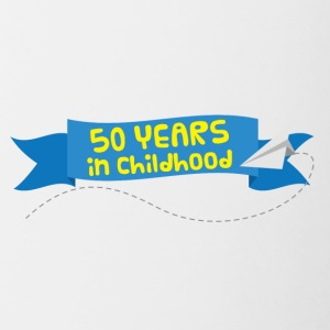 50th Anniversary: ​​50 Years in Childhood - Contrasting Mug