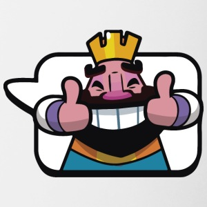Emoticono Rey de Clash Royale - Taza en dos colores