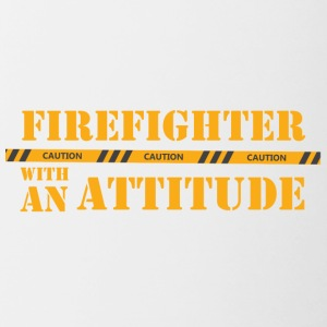 Fire Department: Firefighter with an Attitude - Contrasting Mug