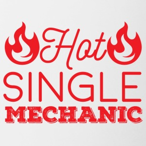 Mechanic: Hot Single Mechanic - Contrasting Mug