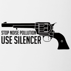 Military / Soldiers: Stop Noise Pollution, Use - Contrasting Mug
