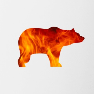 BEAR IN FIRE - Contrasting Mug