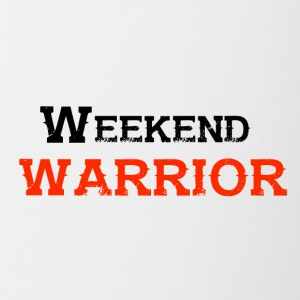 Shirt Weekend Warrior weekend di festa - Tazze bicolor