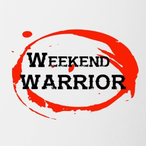 Shirt Weekend Warrior Wochenende Party - Tasse zweifarbig