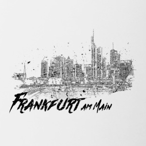 Frankfurt am Main - City sketch skyline - Contrasting Mug