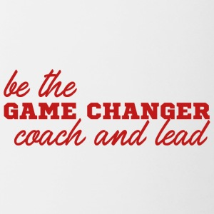 Coach / Entraîneur: Be The Game Changer. coach et - Tasse bicolore