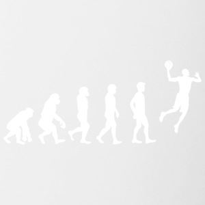 Basketball Evolution! - Tasse zweifarbig