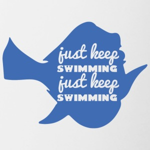 Swimming / Swimmer: Just Keep Swimming - Contrasting Mug