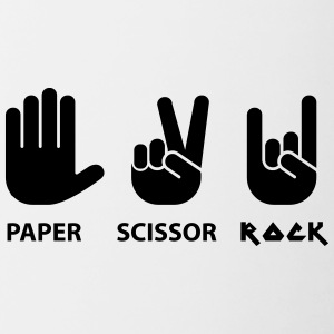 paper scissors rock c - Mok tweekleurig