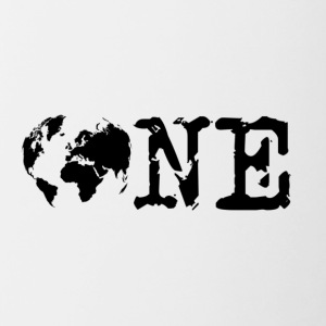 one world - Mok tweekleurig