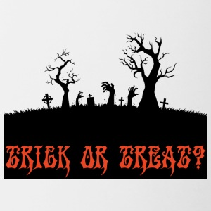 Halloween: Trick or Treat? - Tasse bicolore