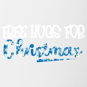 Kerstmis: Free Hugs For Christmas - Mok tweekleurig