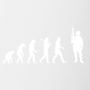 Evolution Soldier! Soldaat! Warrior! Warriors! leger - Mok tweekleurig