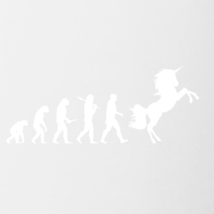 Evolution Unicorn - Tasse zweifarbig
