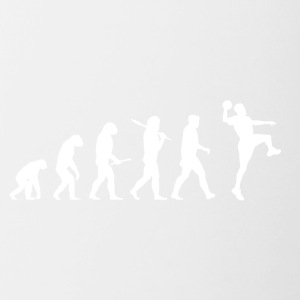 Evolution handball! Sports! Handball funny! - Contrasting Mug