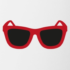 Red sunglasses - Contrasting Mug