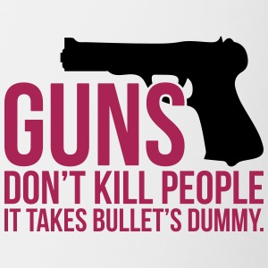 funny guns dont kill people - Tasse zweifarbig