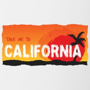 Take Me To California - Mok tweekleurig