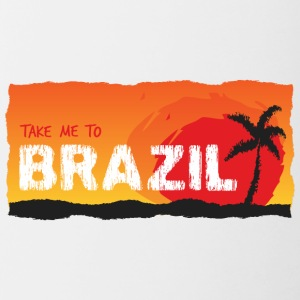 Take Me To Brazil - Mok tweekleurig