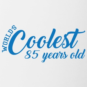 85. Geburtstag: World´s Coolest 85 Years Old - Tasse zweifarbig