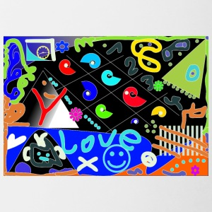 Love Pop Art design - Contrasting Mug