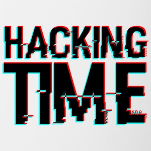 HACKING TIME HACKER - Mok tweekleurig