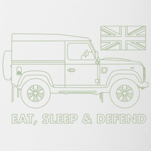 Eat, Sleep & Defend - Contrasting Mug