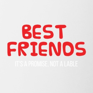 Best Friends: Best Friends. Het is een belofte, geen - Mok tweekleurig