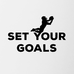 Voetbal: Set Your Goals - Mok tweekleurig