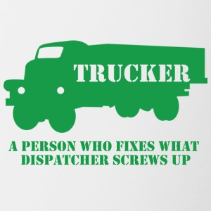 Trucker / LKW-Fahrer: A person who fixes what - Tasse zweifarbig