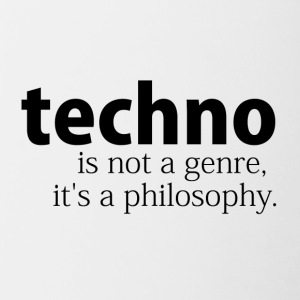 techno is not a genre - Tasse zweifarbig