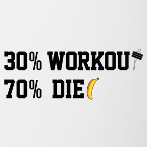 30% 70% DIET WORKOUT - Contrasting Mug