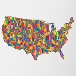 COLORFULL AMERICA - Mok tweekleurig