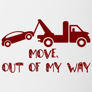 Trucker / Truck Driver: Move, out of my way. - Contrasting Mug