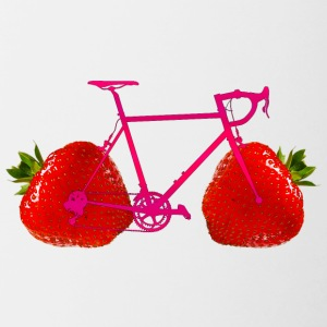 Strawberry Bike - Tvåfärgad mugg