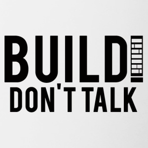 Architect / Architecture: Build! Don't Talk. - Contrasting Mug
