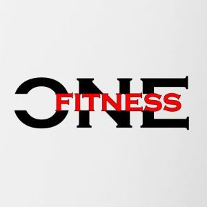 ONE FITNESS Logo (Without Globe) - Mok tweekleurig