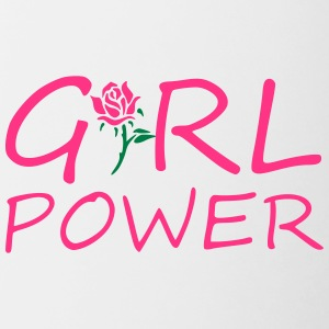 Girl power - Tasse zweifarbig