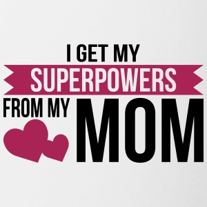 Super Power Mom - moeder - Mok tweekleurig