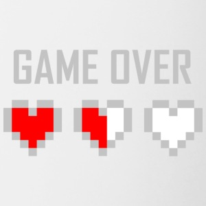 game_over_tshirt_vector_by_warumono1989-d7tn9e8 - Taza en dos colores