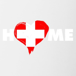 Home love Switzerland - Contrasting Mug